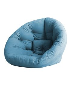 Take a look at this Blue Round Futon on zulily today!