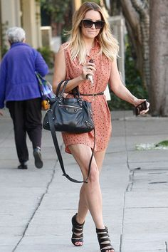 WHO: Lauren Conrad    WORE:MinkPink Dress, Christian Louboutin wedges, and Balenciaga bag    WHERE: Shopping in Los Angeles