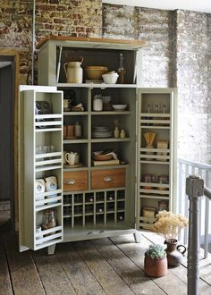 CLUTTER-FREE SOLUTIONS FOR THE NEW YEAR – The Cotswold Company Blog. Kitchen Storage, French Grey Painted Larder