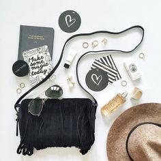 Fashion accessories  #flatlay #bag #fringe