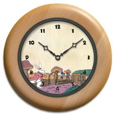 Children 39 S Clocks Wood On Pinterest Wood Walls Clock