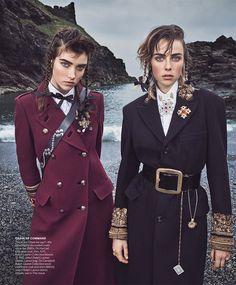 Major General Publication: Vogue US September 2016 Model: Edie Campbell, Grace Hartzel Photographer: Mikael Jansson