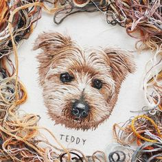 Isn't Teddy just the cutest Norfolk terrier?  I also wanted to say a really big thankyou to everyone that attempted to purchase one of my slots a few days ago! They sold in under one minute and my mind was blown!!!  Thankyou so much for all of your endless support ☺️The Instagram community is just so amazing! I love our little embroidery and arts bubble that we all have together  have a great evening everyone! #needlepainting #threadpainting #hoopart #handembroidery