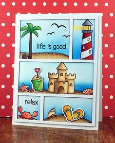 Lawn Fawn - Life is Good _ fabulous card by Stephanie via Flickr - Photo Sharing!