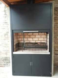 Barbecue, Outdoor Barbeque, Bbq Grill, Parrilla Interior, Argentine Grill, Indoor Bbq, Outdoor Grill Station, Four A Pizza, Dressing Room Design