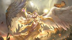 Here you can find all the latest League of Angels wallpapers. The official League of Angels wallpaper site only in GTarcade. Warrior Angel, Fantasy Character Design, Character Art, Moba Legends, League Of Angels, Angel Fire, Angel Wallpaper, Angel Drawing, Beautiful Fantasy Art