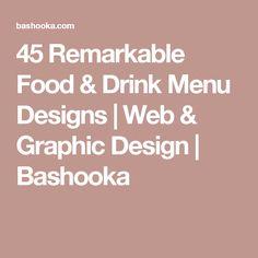45 Remarkable Food & Drink Menu Designs | Web & Graphic Design | Bashooka