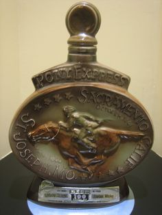 Antique Whiskey Bottle Collectors | Jim Beam Pony Express Collector Bottle Decanter 1968 | eBay