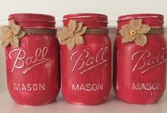 A personal favorite from my Etsy shop https://www.etsy.com/listing/202790827/chalk-painted-mason-jars-set-of-3-pint