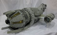 Breath-taking 7-Foot-Long LEGO SERENITYShip. I can't believe what I'm seeing, but I *love* Wash's dinosaur! #Firefly #geek