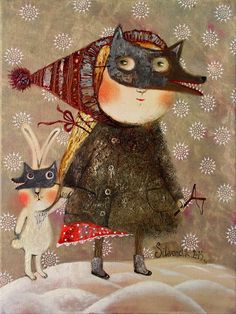 Pinzellades al món: Il·lustracions d'Anna Silivonchik: fred hivernal