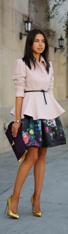 FLORALS & FRILLS. I am not sure about florals, but the whole silhouette looks pretty attractive