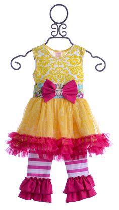 Giggle Moon Tutu Dress Sweet as Honey $59.00
