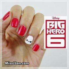 Big hero six nail art