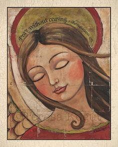 PRAY with border 8x10 print by Teresa Kogut by teresakogut on Etsy, $15.00