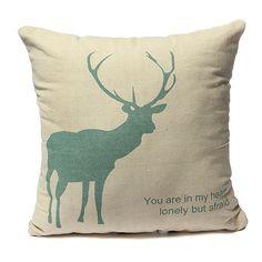 42X42cm Linen & Cotton Creative Elk Pillow Cases Home Sofa Cushion