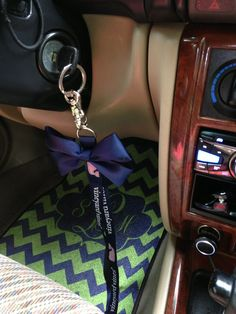 Monogram car mats.  Shut the front door.