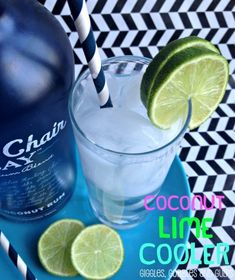 Coconut Lime Cooler w/ Blue Chair Bay Rum - Giggles, Gobbles and Gulps