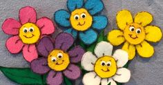"""Several """"Five Little Flowers"""" rhymes and flannel set to go with themm"""