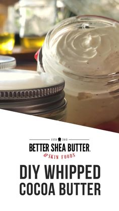 Homemade Body Butter, Whipped Body Butter, Homemade Skin Care, Homemade Beauty Products, Diy Skin Care, Homemade Body Lotion, Diy Beauté, Lotion Recipe, Diy Lotion