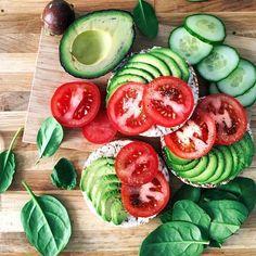 "kaylaitsines: "" I love fresh avocado & tomato with salt & pepper  www.kaylaitsines.com/app """