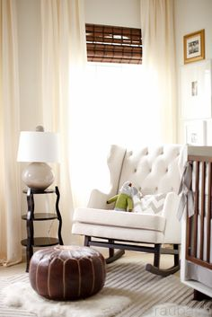 love this rocking chair - neutral nursery