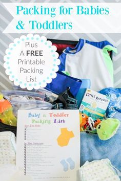 Taking a trip with a toddler or baby? Learn about our hilarious travel tales with our kids and what we suggest packing. Plus a free printable! #MyLittleRemedies #ad