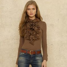 Jennifer Ruffled Blouse | Ralph Lauren - Verr very much ME...
