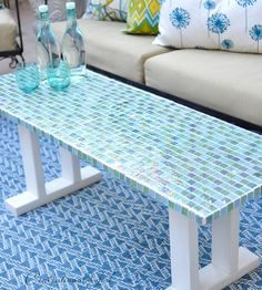Learn how to make this gorgeous, and surprisingly simple, patio tables with help form Centsational Girl's tutorial.