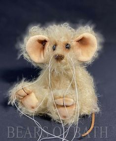 Frazzle a 5.5 inch Mohair Artist Mouse Bear by Bears of Bath #BearsofBath Bears, Teddy Bear, Artist, Animals, Animales, Animaux, Artists, Teddy Bears, Animal