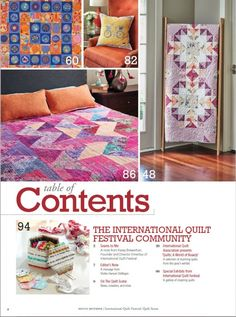 Quilt Scene magazine takes you to the International Quilt Festival 2017 with an insiders look at this quilt show, quilt gallaries, and original quilt patterns. International Quilt Festival, Fabric Printing, Festival 2017, Quilt Making, Quilt Patterns, Scene, Quilts, Blanket, Comforters
