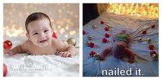 O podrías intentar tomar una bonita foto de Pinterest de tu bebé, solo para que la arruine.   21 Imágenes que demuestran por qué nunca deberías intentar nada