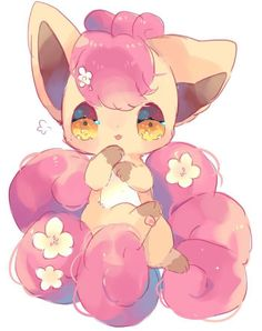 gourgeist: Vulpix by Pokemon Eeveelutions, O Pokemon, Pokemon Fan Art, Cute Animal Drawings, Kawaii Drawings, Cute Drawings, Manga Pokémon, Images Kawaii, Pokemon Mignon