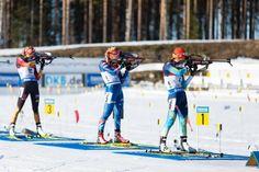 15.03.2015, Kontiolahti, Finland (FIN): Women Mass Start. Gabriela Soukalova, Valj Semerenko, Franziska Preuss.- IBU world championship biathlon, Kontiolahti (FIN), #bwch2015.