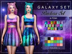 I'm happy to announce my collaboration with @taty86! We both are big fantasy fans, so we decided to use this opportunity and created a Galaxy Set for you! The set includes 3 galaxy style make up -...