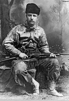 Theodore Roosevelt, age 26/27, 1885.