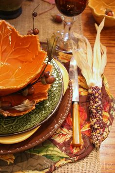 Thanksgiving tablescape by StoneGable: Stack Em' High!