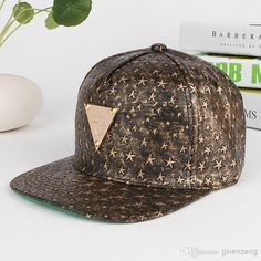 8bc94a8edab Hater H Bronze Star Repeat With Triangle Gold Metal Logo Snapback Hats Soft  Pu Leather Size Adjustable Snapback Caps From Givenzeng
