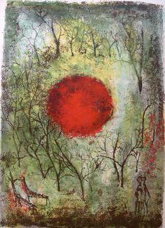 Zao Wou-Ki- le soleil rouge-1950                                                                                                                                                                                 More