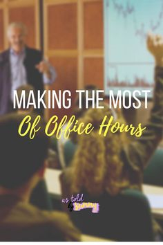 The last thing many students in college want to do is clear an hour of their time to make it to their professor's office hours, let me tell ya. But in all honesty, office hours… View Post