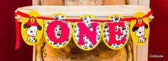 High chair Banner 1st birthday banner Dog theme by Craftytude
