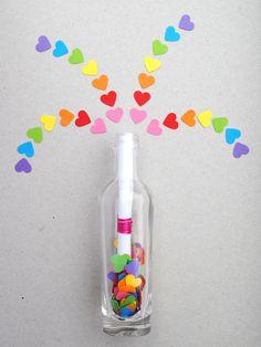 Manualidades para niños: mensaje mágico en una botella para San Valentín