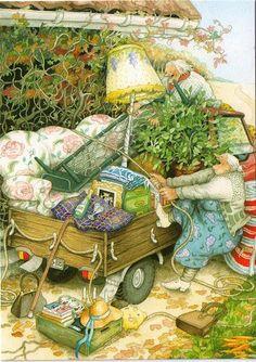 inge look  -  old ladies moving   jaybeepostcards, via Flickr