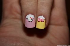 Hello kitty 5 nail art
