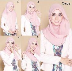 kumpulan gambar tutorial hijab segi empat sederhana terbaru simpel - my ely Tutorial Hijab Segitiga, Tutorial Hijab Wisuda, Square Hijab Tutorial, Simple Hijab Tutorial, Hijab Chic, Stylish Hijab, Casual Hijab Outfit, Hijab Dress, How To Wear Hijab