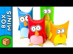 Toilet Paper Roll Owl Family | DIY Crafts Ideas For Kids | Box Minis - YouTube