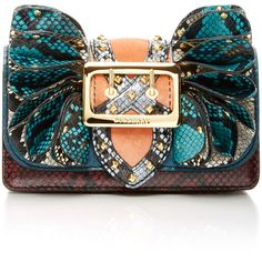 Burberry     Watersnake Buckle Shoulder Bag (€2.780) ❤ liked on Polyvore featuring bags, handbags, shoulder bags, animals, animal purse, leather shoulder bag, shoulder handbags, shoulder hand bags and real leather purses