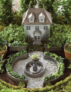Miniature French Chateau Fairy Garden Kit - Victorian Trading Co.