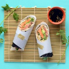 Vegan Sushi Burrito | When it comes to subbing spicy sweet potatoes for spicy tuna in this vegan sushi, we might just support the sushi burrito craze. It's really hard not to love this when it's essentially everybody's sushi dreams in one, portable option | Cooking Light