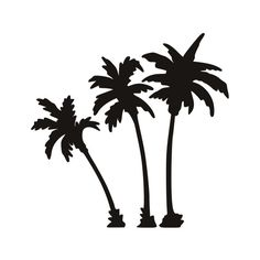 Palm Trees Vinyl Decal T-8 by SidratDecals on Etsy